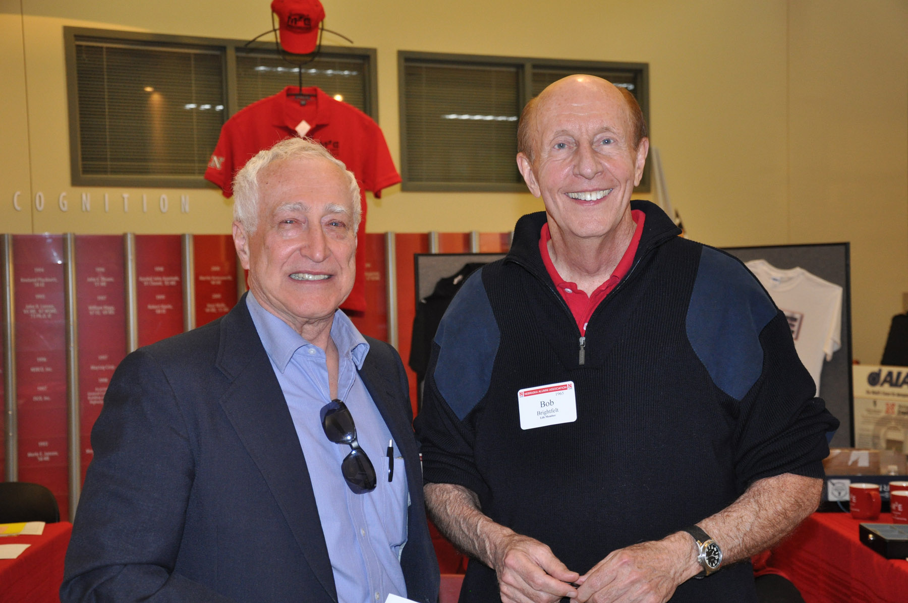 Reunion participants: Charles Burda and Bob Brightfelt