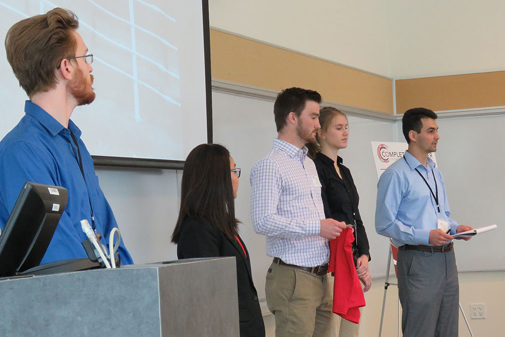 Team 3 presenting in the Grand Challenge Competition