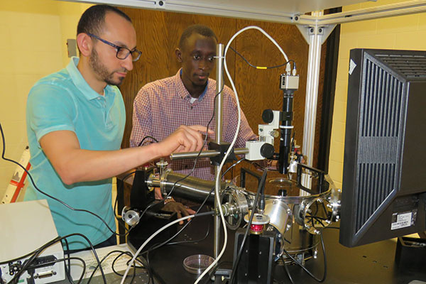 Instead of combatting the heat that is detrimental to computers, two University of Nebraska-Lincoln engineers Sidy Ndao, associate professor of mechanical and materials engineering, and Mahmoud Elzouka, doctoral student in mechanical and materials engineering, have embraced it as an alternative energy source that would allow computing at ultra-high temperatures.