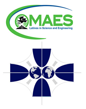 MAES and SHPE Logo (MAES - Latinos in Science and Engineering and SHPE - Society of Hispanic Professional Engineers.