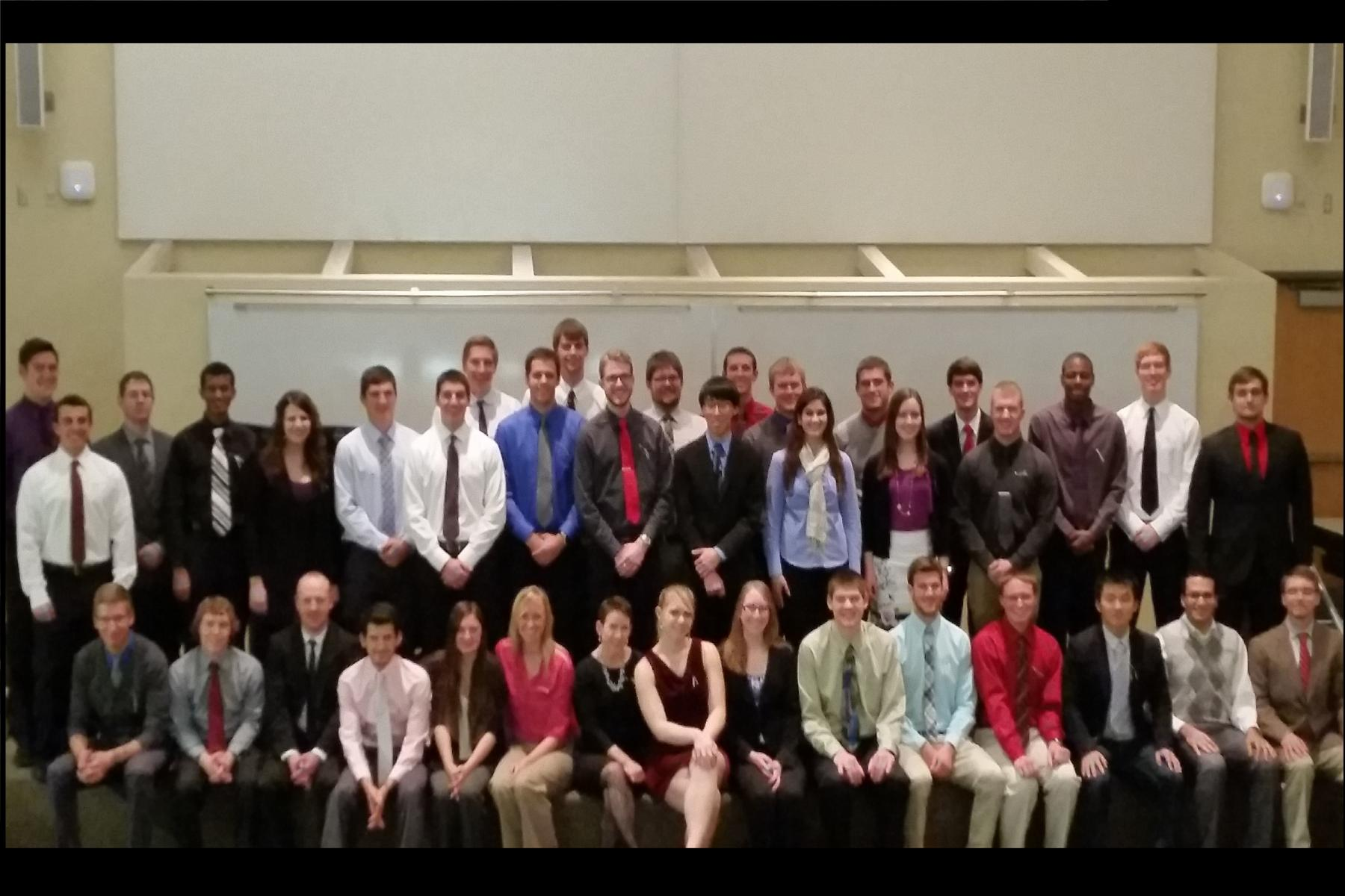 Image of the 2013 Nebraska Tau Beta Pi Initiate Class