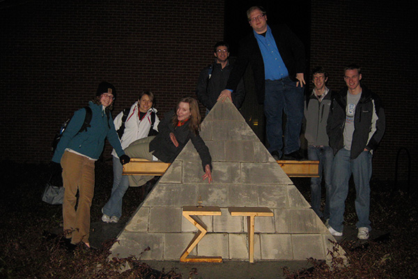 Tau Beta Pi officers outside of Othmer Hall