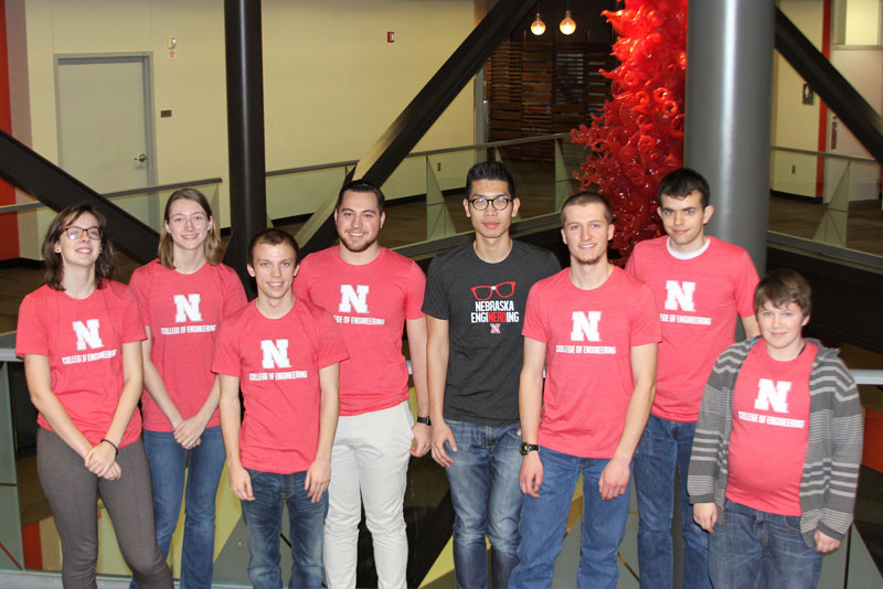 Group of students smiling for the camera