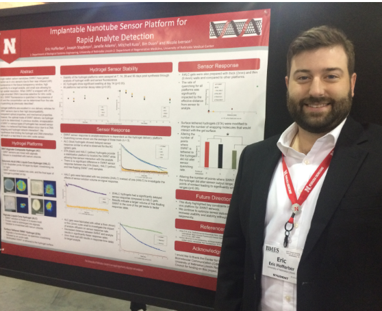 Eric presents his research at the BMES national conference in Philadelphia (October 2019)