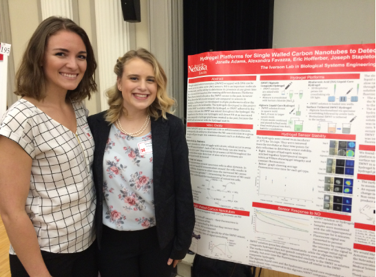 Alex Favazza and Janelle Adams at the UCARE Poster Session (April 2018)