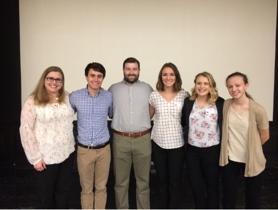 Iverson, Joey Stapleton, Eric Hofferber, Alex Favazza, Janelle Adams, and Abby Haworth at the UCARE Poster Session (April 2019)