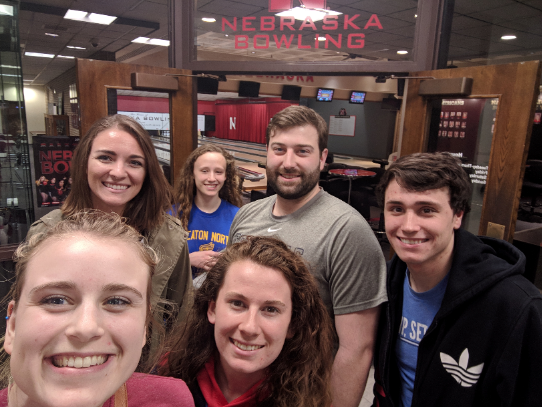 2019 Iverson Lab student outing to the bowling alley