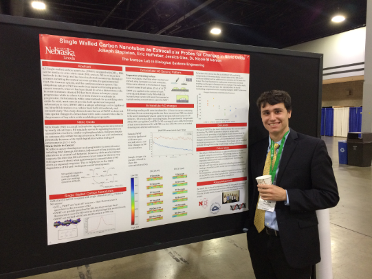 Joey presenting his research at the BMES national conference (October 2018)