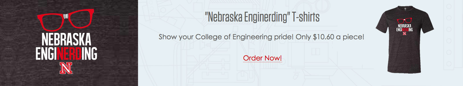 Nebraska Enginerding T-shirts - Show your College of Engineering pride! Only $10.60 a piece!