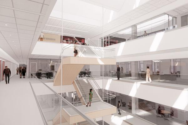 Kiewit Hall Interior - Stairs