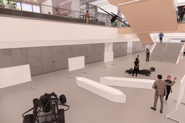 Kiewit Hall Interior - The 'Garage' - Lower Level