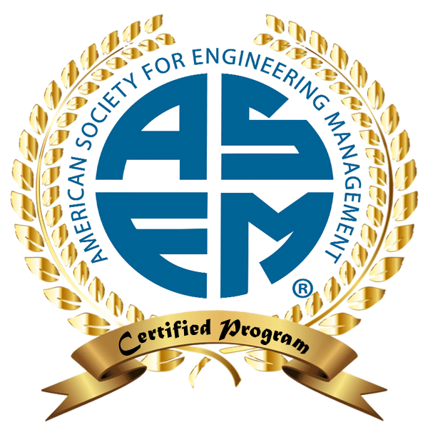 American Society for Engineering Management Certified Program Badge