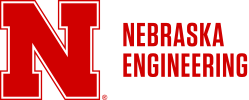 Red N to left of Nebraska Engineering in two rows Word Mark