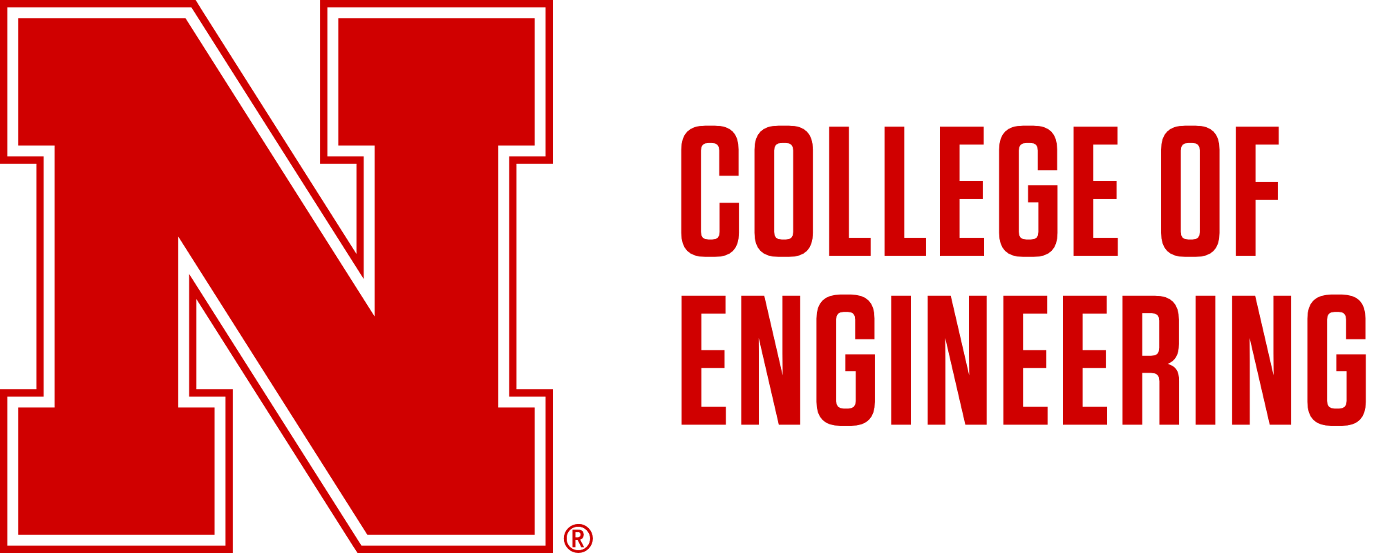 Red N to left of 2-line College of Engineering Word Mark