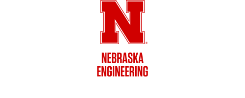 Red N over Nebraska Engineering in two rows Word Mark