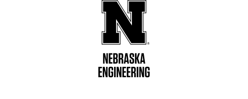 Black N over Nebraska Engineering in two rows Word Mark