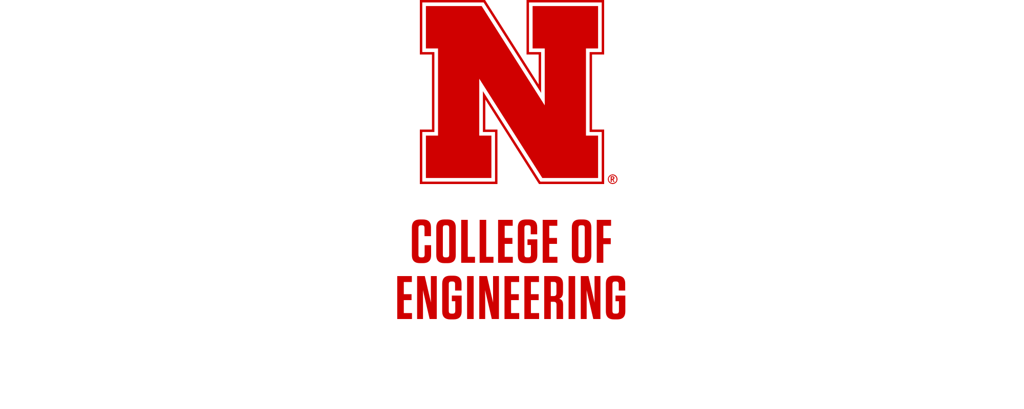 Red N over 2-line College of Engineering Word Mark