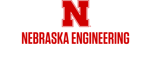 Red N over Nebraska Engineering in one row Word Mark