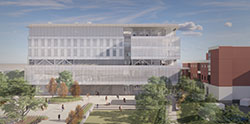 North ground view rendering of Kiewit Hall