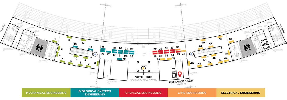 Nebraska Engineering Senior Design Showcase Floor Plan