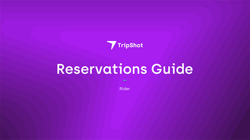 TripShot Reservation Guide Cover
