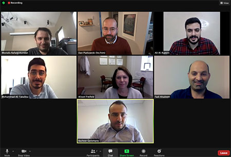 XPRIZE team meets on a Zoom call