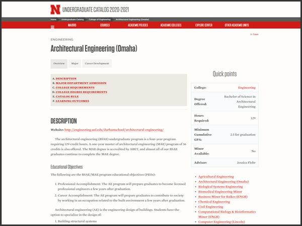 Current Catalog & Academic Plan