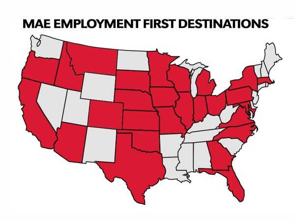 MAE First Employment Destinations