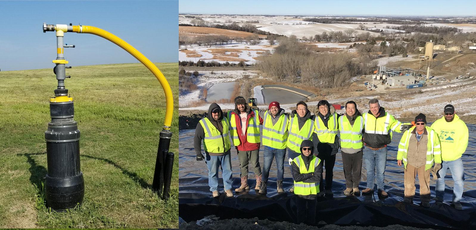 Landfill Gas Monitoring at an Operating Landfill