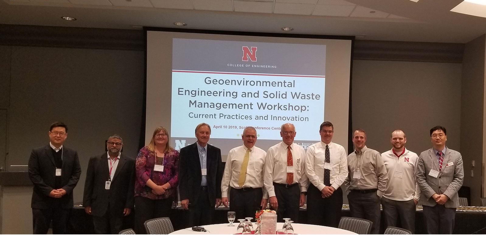Photo opportunity for Nebraska delegation at the 2019 GESWM Workshop.