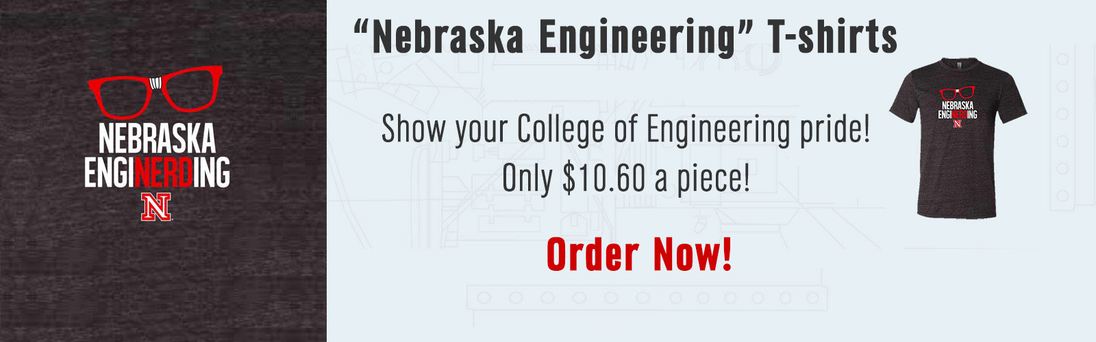 """Nebraska Enginerding"" T-shirts - Show your College of Engineering pride! Only $10.60 a piece. Order Now!"