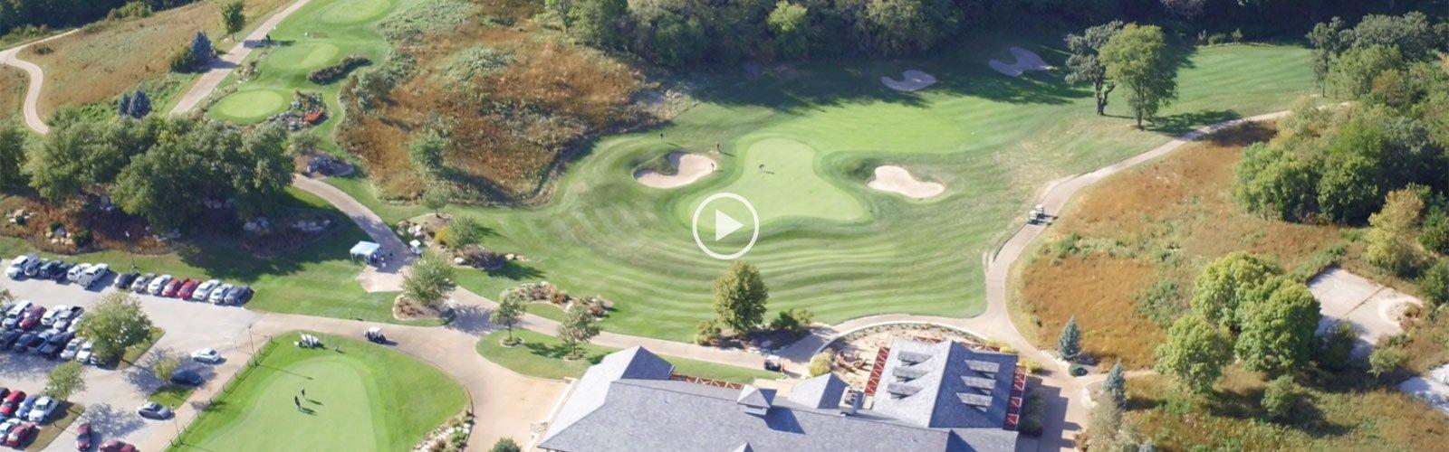 Aerial image of Quarry Oaks golf course