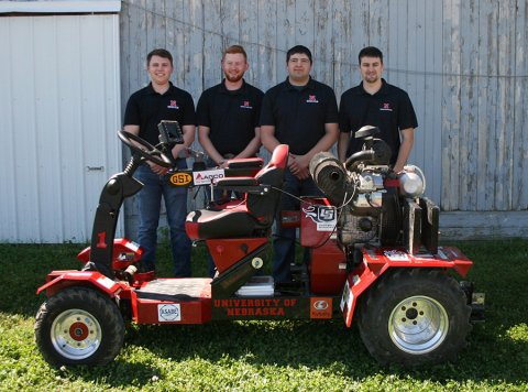 The Nebraska team took second overall at the 2021 ASABE International Quarter-Scale Tractor Student Design Competition in Peoria, Illinois.