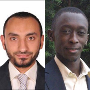 MME graduate student Mahmoud Elzouka (left) and MME assistant professor Sidy Ndao.