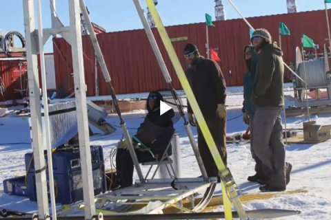 Weather Channel video highlights drill used by WISSARD and SCINI projects in Antarctica.