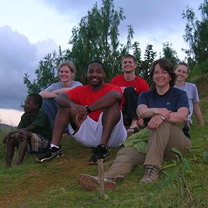 Libby Jones (front right), associate professor of civil engineering and faculty adviser, was part of the UNL Engineers Without Borders team that went to Madagascar in 2010.