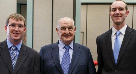 (from left) Eric Gitt, Walter Scott Jr. and Kevin Walters.