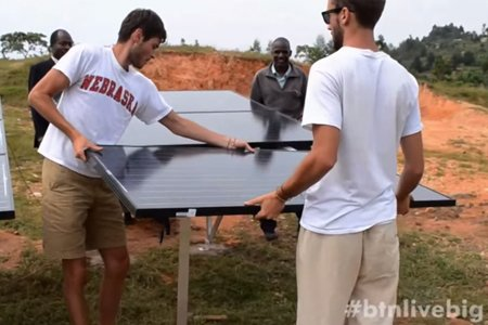 Engineering students part of UNL's World Energy Project team, whose work to bring sustainable energy systems to developing countries is featured in a LiveBIG video.