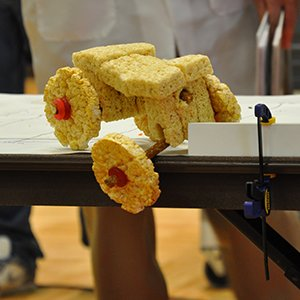Students in Mark Riley's introductory biological systems and agricultural engineering class will build and demonstrate edible cars.
