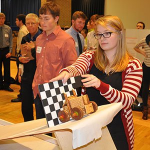 Seventeen teams of students designed cars for the annual Incredible Edible Vehicle Competition.