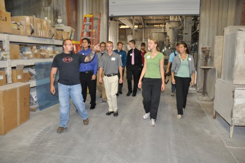 Student tour of Grand Island facility in Fall 2013
