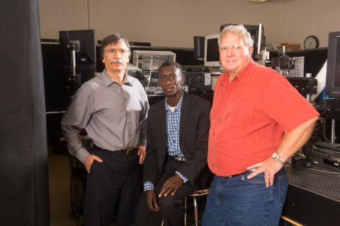 MME professor George Gogos, MME assistant professor Sidy Ndao and EE professor Dennis Alexander lead a team that has received approximately $1 million in funding to do research into functionalizing metallic surfaces.