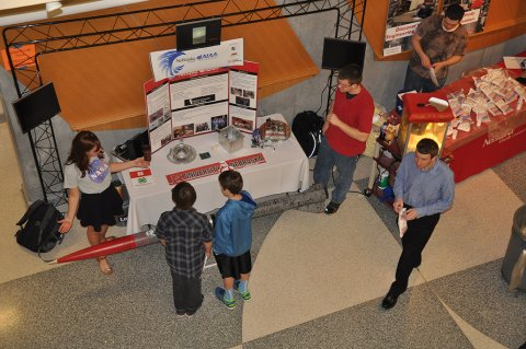 The annual E-Day Open House showcases student design projects and student organizations.