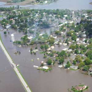 Floodwaters rolled through De Witt in early May after a record 11 inches of rain fell in 24 hours. (Omaha.com photo)