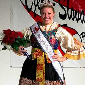 Meagan Kurmel, an architectural engineering alumnus, was recently crowned Miss Czech-Slovak U.S. at the Wilber Czech Festival.