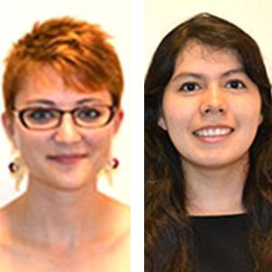 Brittney Bridger-Burton (left) and Zully Perez Sierra have been chosen to the McNair Cohort as part of the UNL McNair Scholars Program.