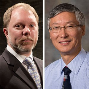 Mark Riley (left), department head and professor of biological systems engineering, and Tian Zhang, professor of civil engineering, are among the eight UNL faculty who have been named fellows of the American Association for the Advancement of Science.