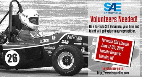 Volunteers are needed to help with the upcoming Formula SAE Lincoln competition.