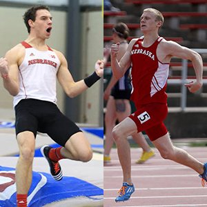 Nebraska Engineering students Stephen Cahoy (left) and Drew Wiseman represented UNL at the 2015 NCAA Outdoor Track and Field Championships in Eugene, Ore.