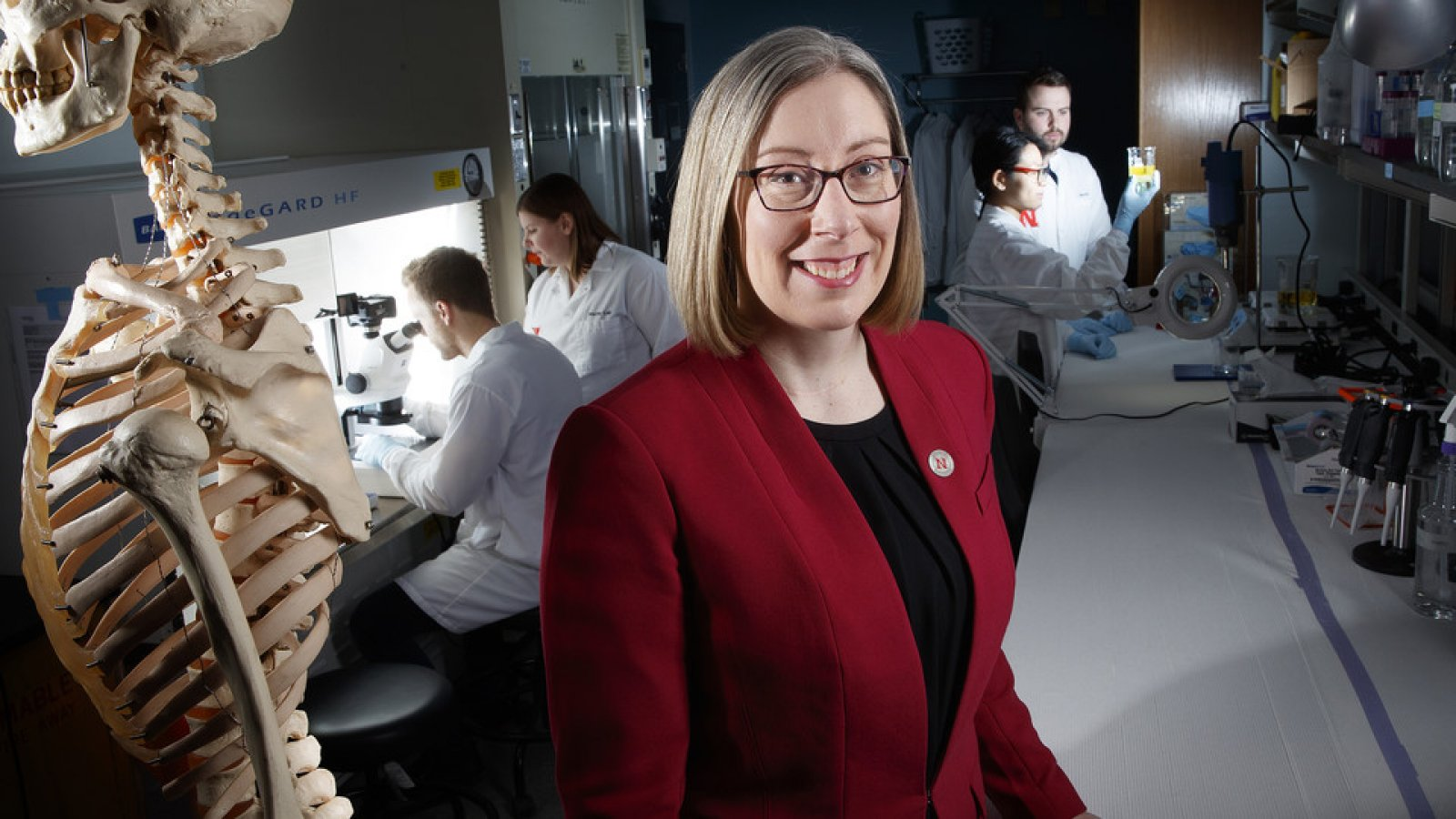 Rebecca Wachs, assistant professor of biological systems engineering, earned a National Science Foundation CAREER award to support her development of a non-opioid treatment of back pain. (University Communication)